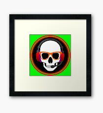 GEEKY SKULL Framed Print