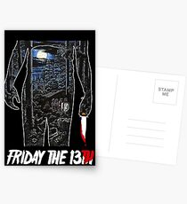 Friday the 13th Movie Poster Postcards
