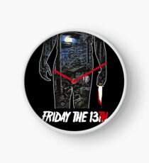 Friday the 13th Movie Poster Clock