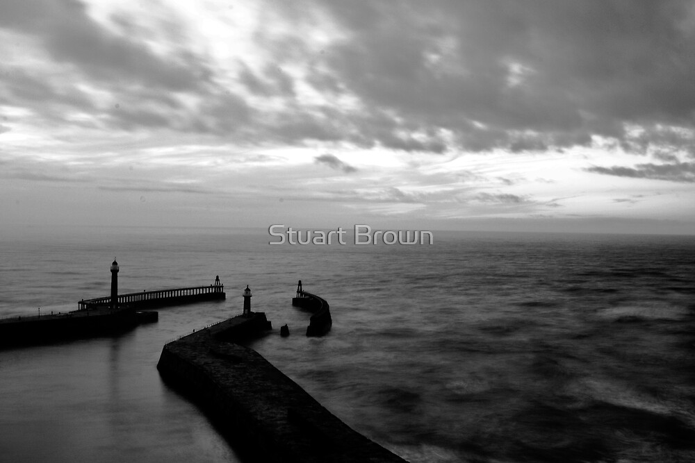 Whitby Harbour, North Yorkshire by Stuart Brown