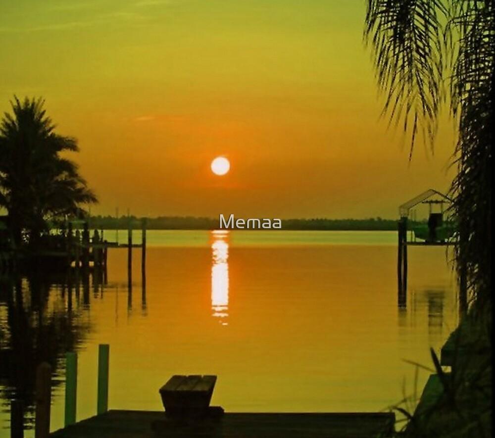 Sun Rise Over the Myakka by Memaa