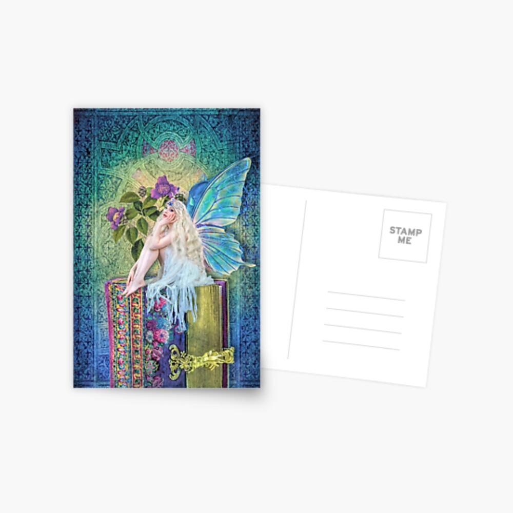 Die kleine Buch-Fee Postkarte