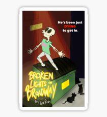 Broken Lights On Broadway Sticker