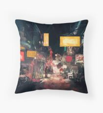The Closing Hours Throw Pillow