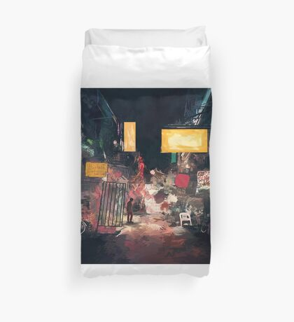 The Closing Hours Duvet Cover