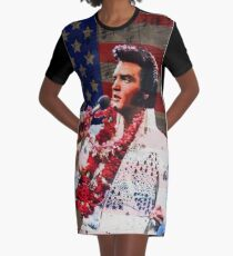 Elvis in Aloha white suit  Graphic T-Shirt Dress