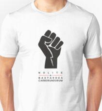 Nolite te bastardes carborundorum (white) Unisex T-Shirt
