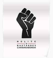 Nolite te bastardes carborundorum (white) Poster