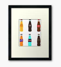 Nuka Cola Pack #2: Classic Bottles Framed Print