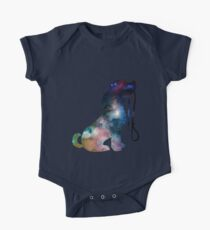 Universe Background Space Dog One Piece - Short Sleeve
