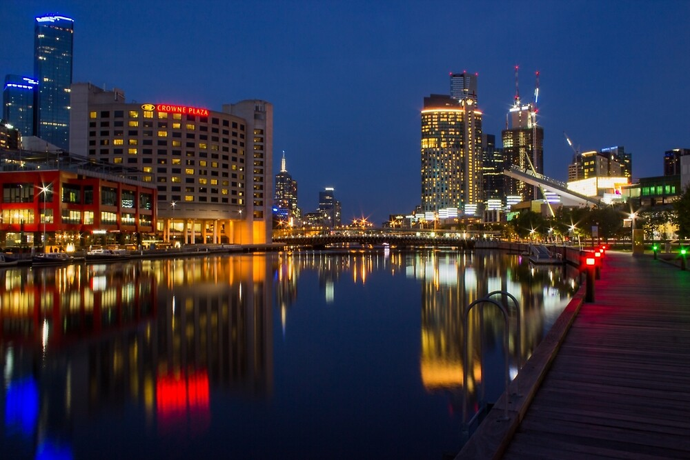 Melbourne City - The Blue Hour by Chris Kean