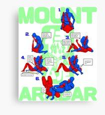 Mount Armbar BJJ T Shirt Canvas Print