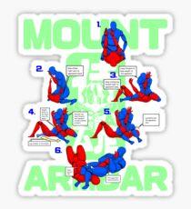 Mount Armbar BJJ T Shirt Sticker