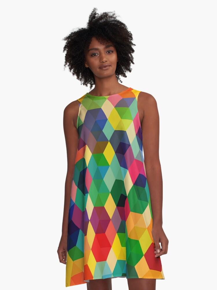 Hexagonzo A-Line Dress Front