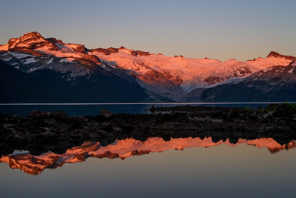 Sunset Over Lake Garibaldi and the Mountains by journeysincolor