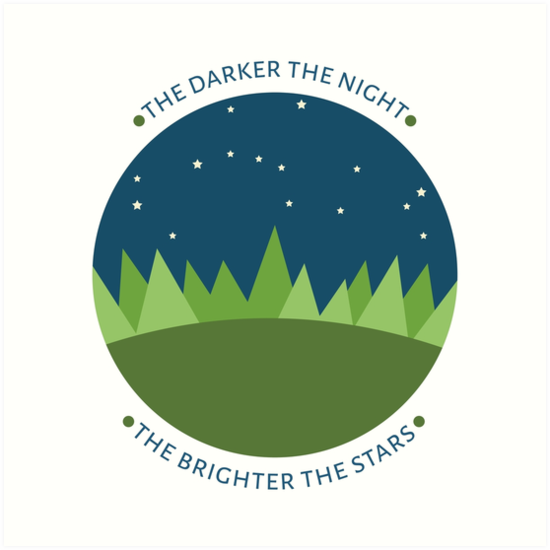 The darker the night the brighter the stars by ann-rae