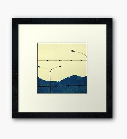 I looked up to the mountains Framed Print