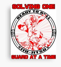 Solving one Guard at a Time BJJ T Shirt  Canvas Print
