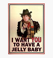 I want you to have a jelly baby Photographic Print