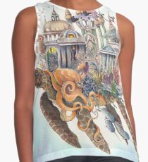 """Ancient City""  By Valerie Flynn Contrast Tank"