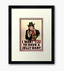 I want you to have a jelly baby Framed Print