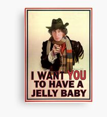 I want you to have a jelly baby Canvas Print