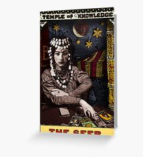 The Seer: from the Tarot of the Zirkus Mägi Greeting Card