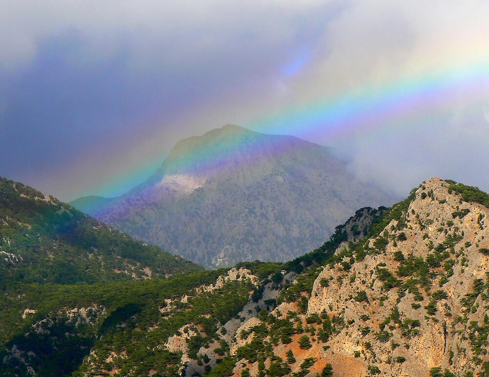 Rainbow over Crete by avocet