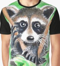 Raccoon Bandit In The Tree Graphic T-Shirt