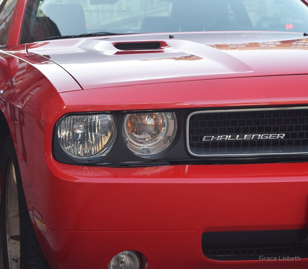 Red 2013 American Muscle Car   by Grace Lisbeth