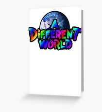 A Different World color Greeting Card