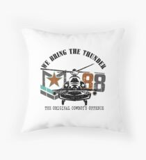 American Army helicopter illustration  Throw Pillow