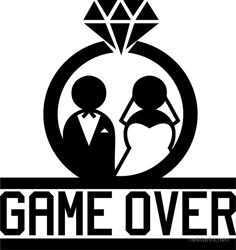 Quot Game Over Wedding Quot Stickers By Nektarinchen Redbubble