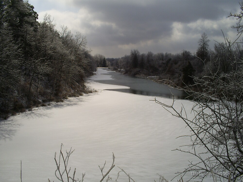 Winter River by thethreeamigos777