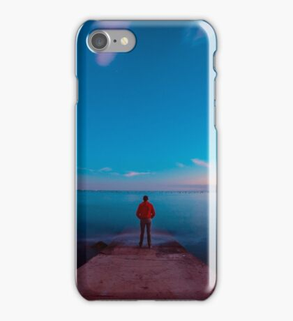 Sunset at the sea, Trieste iPhone Case/Skin