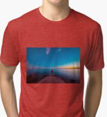 Sunset at the sea, Trieste Tri-blend T-Shirt