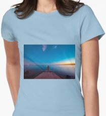 Sunset at the sea, Trieste Womens Fitted T-Shirt