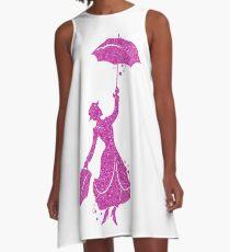 Mary Poppins Purple A-Line Dress