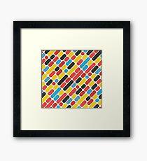 Colorful Trend Pattern Framed Print