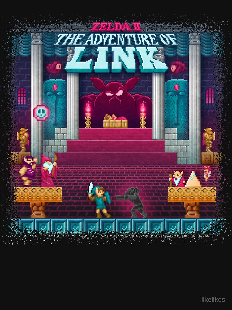 The Link Adventure of Zelda, too by likelikes