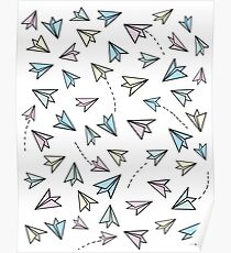 Pastel airplanes Poster