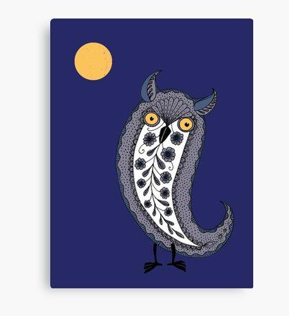 Paisley Owl Canvas Print