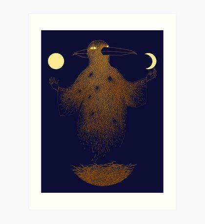 Crow Moon Shaman Art Print