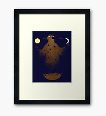 Crow Moon Shaman Framed Print