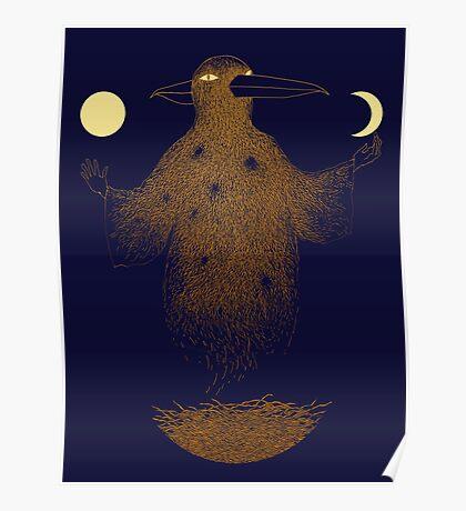 Crow Moon Shaman Poster