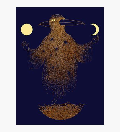 Crow Moon Shaman Photographic Print