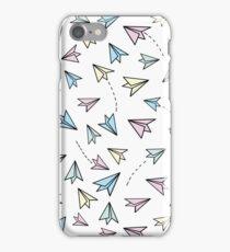 Pastel airplanes iPhone Case/Skin