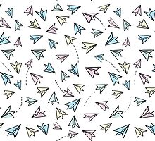 Pastel airplanes by NukaStudio