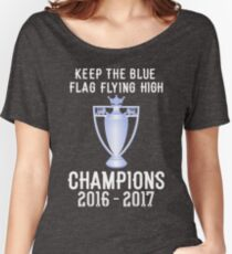Chelsea Premier Champions 2016 2017 Women's Relaxed Fit T-Shirt