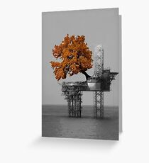 Oil Rig Greeting Card